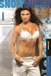 Lauren Abraham - Muscle and fitness Magazine spread