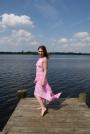 Christina Johnson - standing on pier