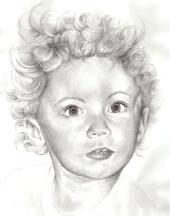 death ninja - pencil portrait of manny