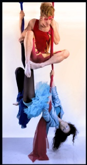 Nichelle Nolan - Fire and Ice on the aerial silks. 