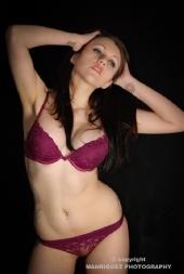 Jose Manriquez - andrea burgundy lingerie