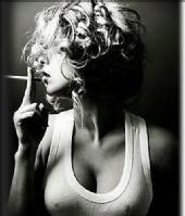 hallee jensen - just for fun smoking a cigarette<>