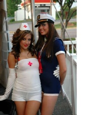 """Brooke - Swimsuit contest I was in. Theme was """"Hot 911"""""""