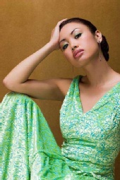 Theia M - green dress