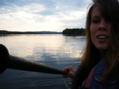 natasha marie - kayaking on the lake