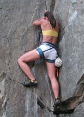 Allison Brown - Rockclimbing