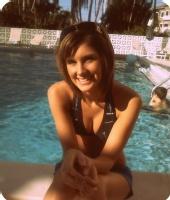Lynn - Sitting by the pool.