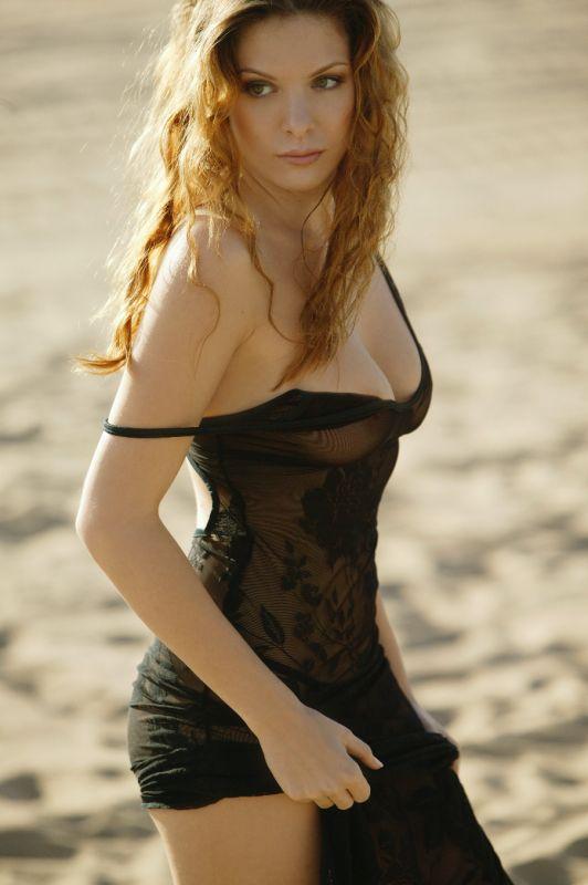 Amanda Lea - Black Dress