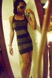 brittany - striped dress