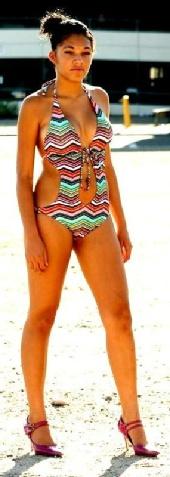 NINA BOSS - nina lookin sexy in her swimsuit