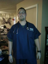 Kevy - Me in my scrubs