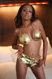 Jai Steele - Gold Swimsuit