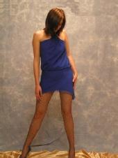 Amy Gask - Amy in blue dress