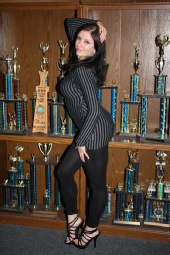 The World's Most Photogenic - Tammy with some of the Pi Kapp trophies