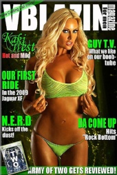 VBLAZIN Magazine - KAKI WEST COVER
