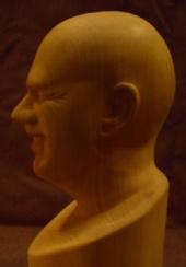 Billwrin - Self portrait in tupilo wood
